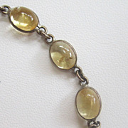 Sterling Silver Citrine Cabochon Bracelet