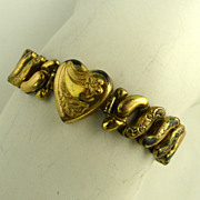WWII Era Co Star Expandable Heart Bracelet
