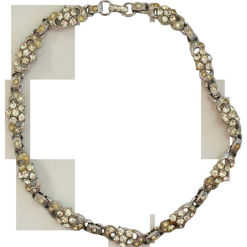 Circa 1930s Rhinestone Choker/Necklace