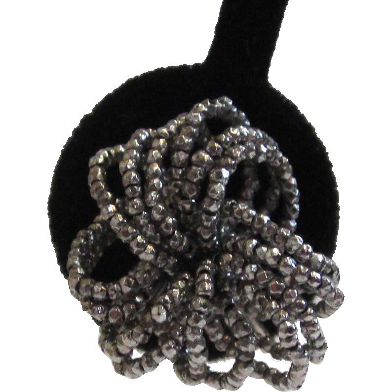 Cut Steel Floral Wired Earrings