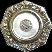 Art Deco Mother-of-Pearl Sterling Silver Pierced Earrings