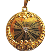 Turn Of The Century FMCO Diamond Gold-Filled Locket