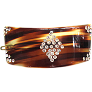 Riviera French-Made Faux Tortoise-Shell Rhinestone Barrette