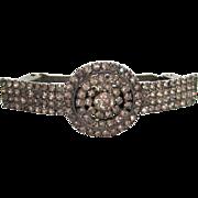 Rhinestone Circular Design Barrette