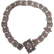 Victorian Silver-tone Metal Belt