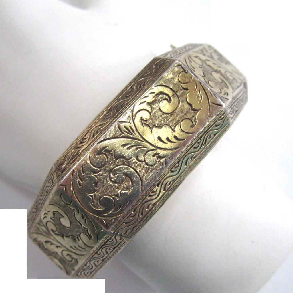 Circa 190s Siam Sterling Silver Bangle Bracelet