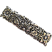 Oberon French-Made Silver-Tone Floral Barrette