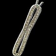Rhinestone Silver-tone Barrette