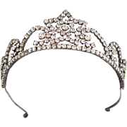 Circa 1950 Rhinestone Star Tiara