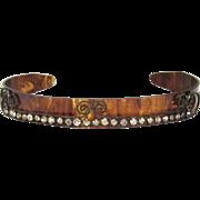 Celluloid Faux-Tortoiseshell Rhinestone Headband