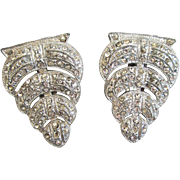Art Deco Scalloped Dress Clips