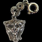 Silver-Tone Lion Charm
