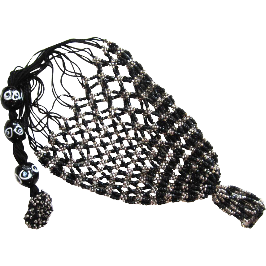 Steel and Black Glass Reticule