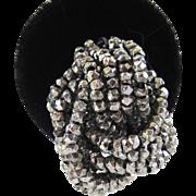 Silver-Tone Cut Steel Bead Knot Earrings