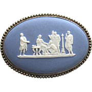 Wedgwood Jasperware Greek Mythological Cameo Brooch/Pin