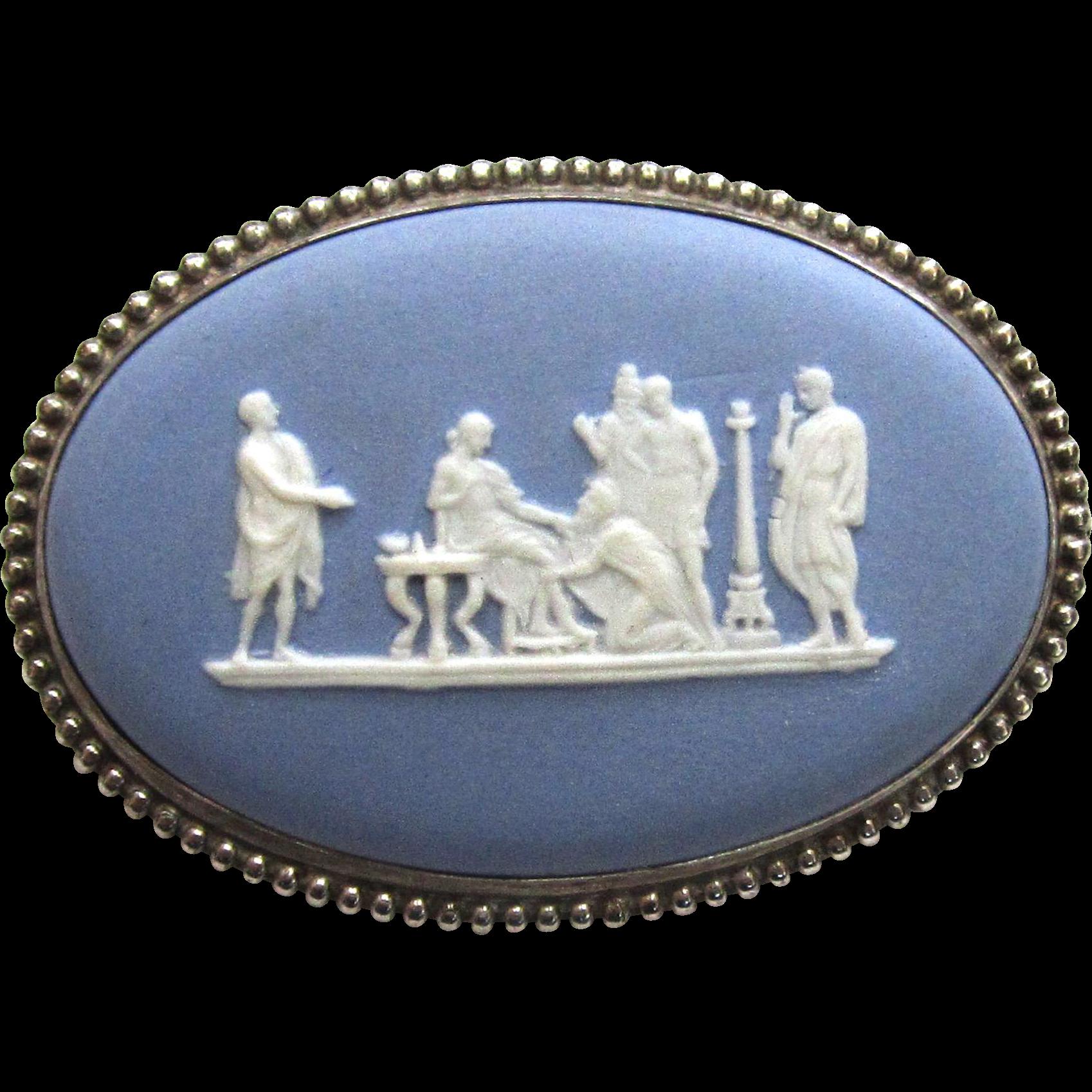 Wedgwood Jasperware Greek Mythological Cameo Brooch/Pin