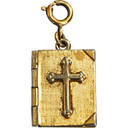 Lord's Prayer Gold-Tone Locket Pendant/Charm