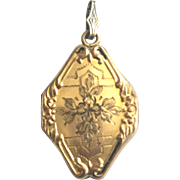 Vintage Gold-Filled Diamond-Shaped Locket