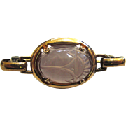 Art Deco Carved Amethyst Carved Scarab Brooch/Pin