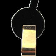 14K Gold Scrolled Pierced Earrings