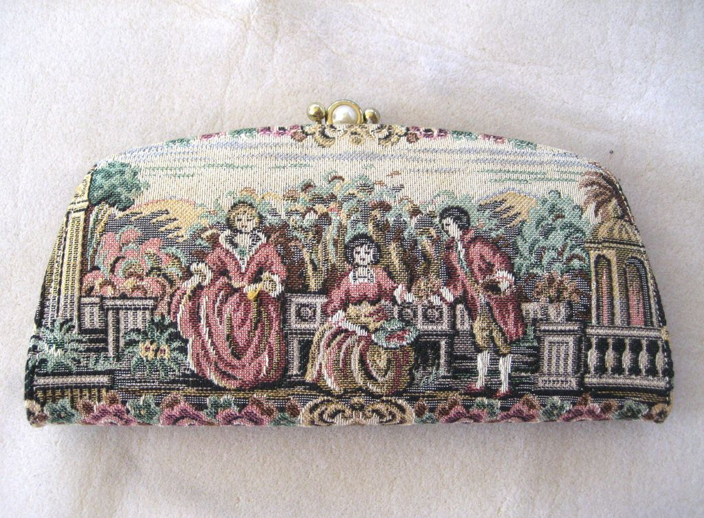 Baronet Tapestry Clutch Wallet and Key Case Set
