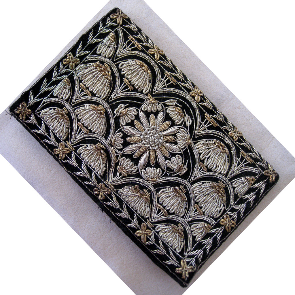 Made in India Metallic Embroidered Clutch Purse