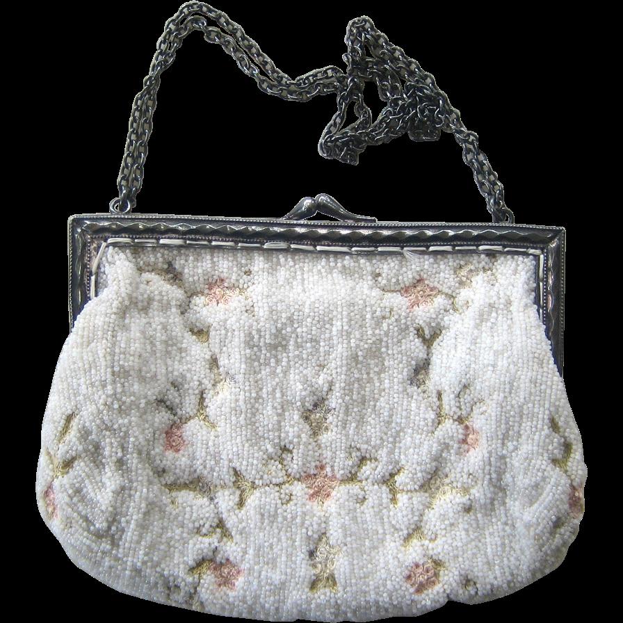 Tambour Beaded Handbag