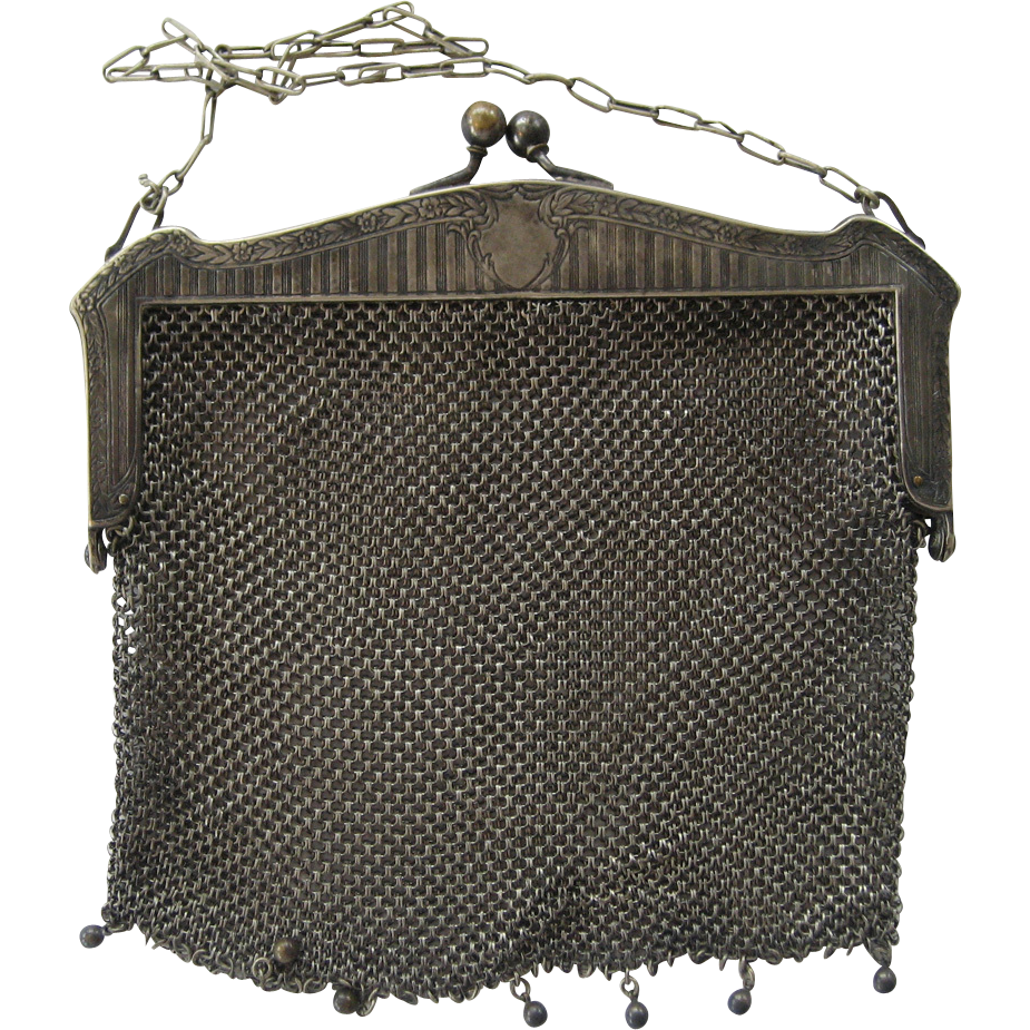 WHS Co German Silver Mesh Purse