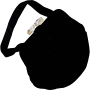Black Velvet Purse with Lucite Bar Clasp