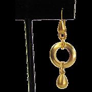 Gold-Tone Drop Hoop Earrings
