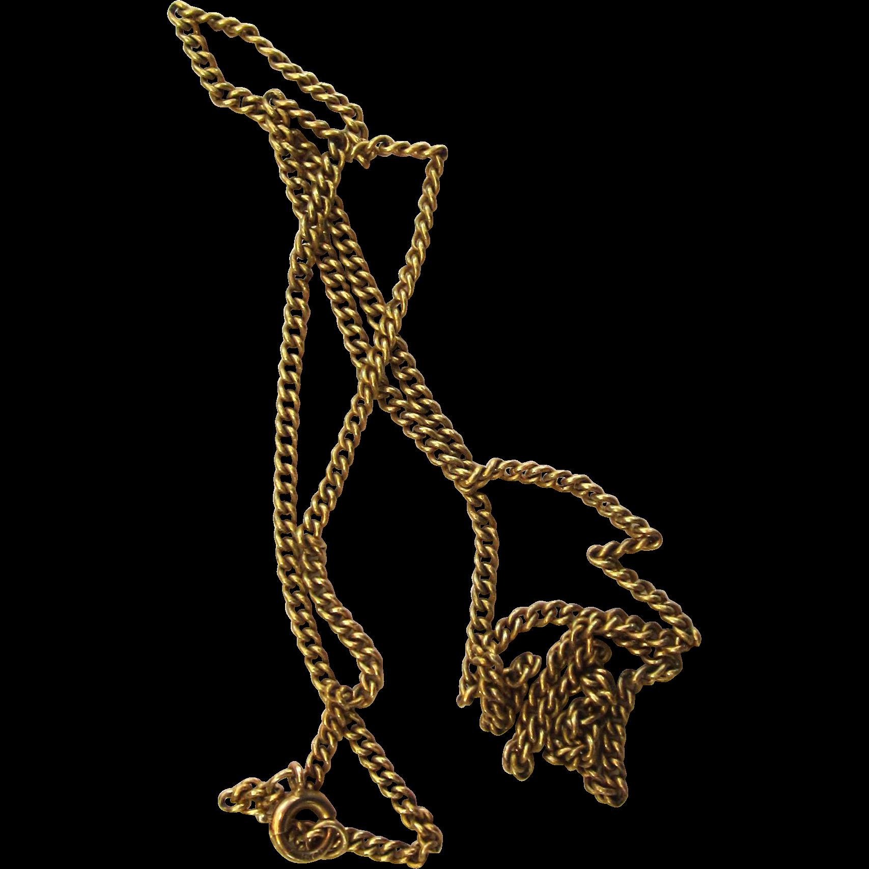 British 15 Ct Yellow Gold Chain