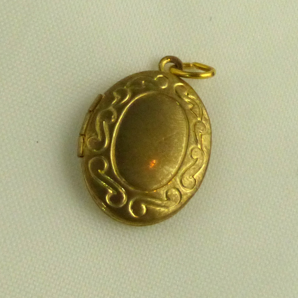 Yellow Gold-Filled Scrolled Locket