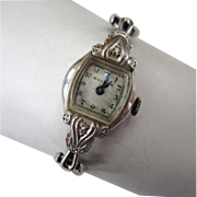 Circa 1952 Bulova 10K Gold-Filled Diamond Watch
