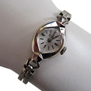 14K White Gold Ladies Swiss Zodiac Watch with Double-Snake Adjustable Band