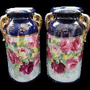 Pair of Vintage England Mantle Vases