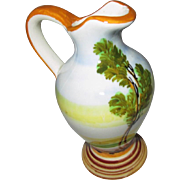 Small water ewer hand painted and signed