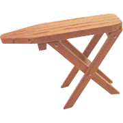 Doll House furniture vintage miniature wood folding ironing board 12:1 size