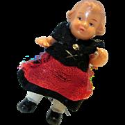 Doll House Girl Hard Plastic dressed