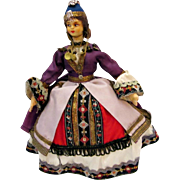 Beautiful Vintage Greece Tourist Doll Hand Made