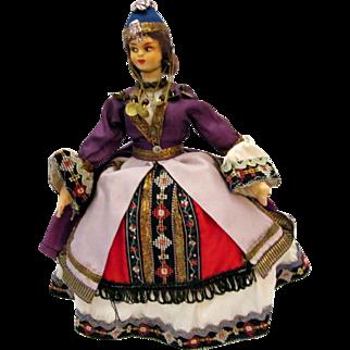 Beautiful Vintage Greece Tourist Doll Hand Made