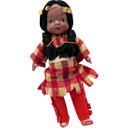 Old Celluloid Indian Doll Japan