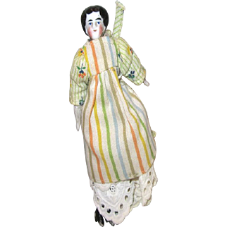 Old China Head doll house lady
