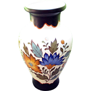 Vase signed Gouda Plateel Holland with a beautiful floral pattern called Flora