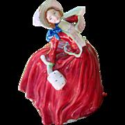 Royal Doulton: Autumn Breeze: Red dress