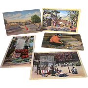 Postcards, Linen, Colored, Navajo Indians