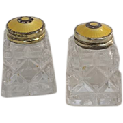 Salt and Pepper Shakers, Norway, .925 Sterling Guilloche