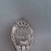 French Sterling Silver Spoon Paris Armorial