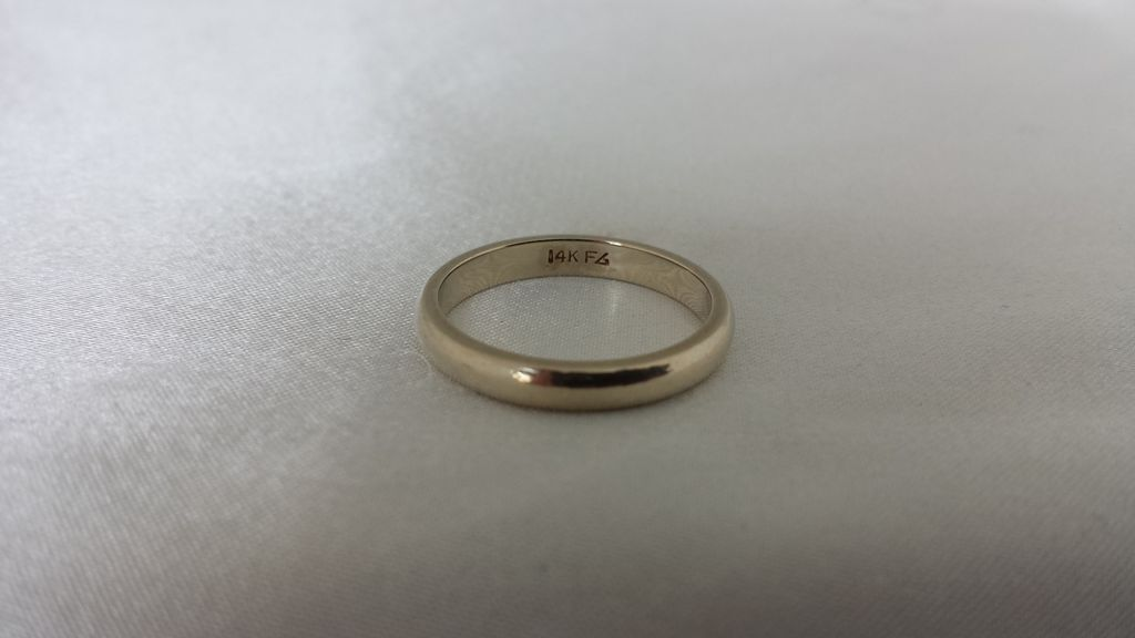 14k White Gold Frederick Goldman Wedding Band from
