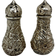 1846-1861 Kirk Repousse Salt and Pepper Shakers