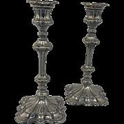 """1849 Elkington 10"""" Candlesticks (signed)"""